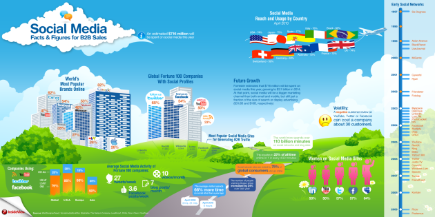 B2B Social Media Infographic